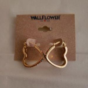 New Wallflower Heart Jeweled Earrings